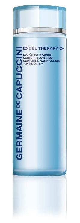 Germaine de Capuccini Pflegeprodukte. EXCEL THERAPIE O², intensive Sauerstoff-Pflege, der intelligente Kampf gegen den Lauf der Zeit. Eeine ausgezeichnete Möglichkeit zur Bekämpfung der frühen Anzeichen des Alterungsprozesses. Exklusiv erhältlich bei Sphinx Design Kosmetikstudio Simone Burghard in CH-8371 Busswil TG bei Wil