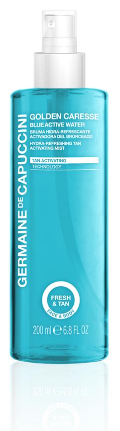 Germaine-de-Capuccini-Golden-Caresse-Blue-Active-Water, erhältlich bei Sphinx Design Kosmetikstudio Simone Burghard in CH-8371 Busswil TG bei Wil
