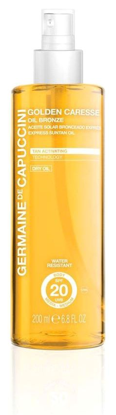 Germaine-de-Capuccini-Golden-Caresse-Oil-Bronce, erhältlich bei Sphinx Design Kosmetikstudio Simone Burghard in CH-8371 Busswil TG bei Wil