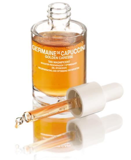 Germaine-de-Capuccini-Golden-Caresse-Sonnenkosmetik, erhätlich bei Sphinx Design Kosmetikstudio Simone Burghard in CH-8371 Busswil TG bei Wil