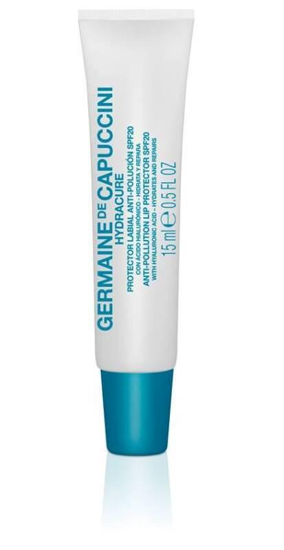 Hydracure – Anti-Pollution Lip Protector SPF 20 - Lippenpflegeschutz SPF 20. Eine herrliche Lippenpflege mit Hyaluronsäure und UV-Schutz. Schenkt den Lippen intensiven Schutz und Feuchtigkeit. Repariert geschädigte Lippenhaut, damit Sie wieder lächeln können. Seine leichte Textur schmilzt sofort auf den Lippen, verleiht ihnen Volumen und stellt ihre natürliche Leuchtkraft wieder her. Von Germaine de Capuccini. Exklusiv erhältlich bei Sphinx Design Simone Burghard Kosmetikstudio in CH-Busswil bei Wil