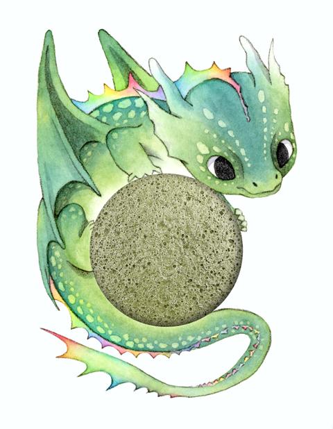 Design Drache Konjac Sponge Mythical Dragon von The Konjac Sponge Company Mythical Creatures Collection