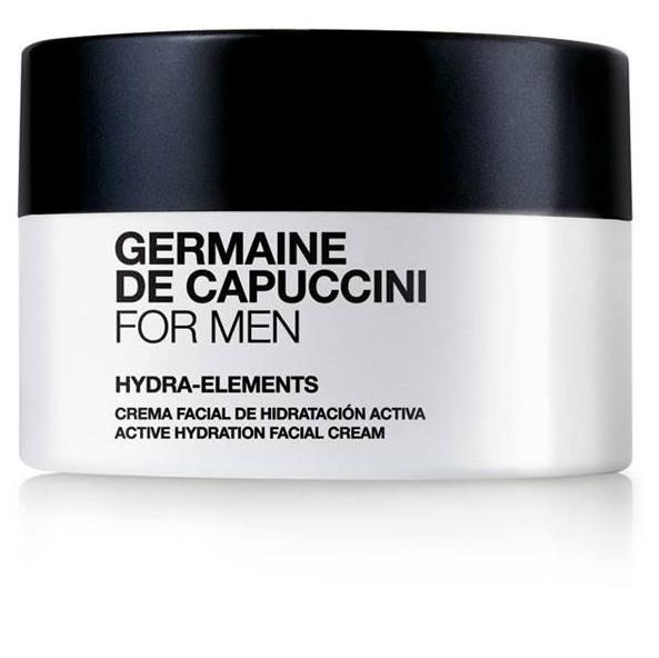 Germaine-de-Capuccini-For-Men-Hydra-Elements-Cream, Germaine de Capuccini Pflegeprodukte. For Men, speziell für die Bedürfnisse der Männerhaut entwickelt. Anti-Aging- und Feuchtigkeits-Pflege, Reinigung und Rasur, Anti Stress Pflege, Fragrance Parfum. Exklusiv erhältlich bei Sphinx Design Kosmetikstudio Simone Burghard in CH-8371 Busswil TG bei Wil